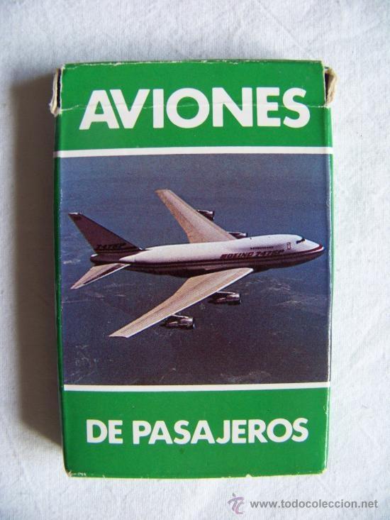 "Joc de cartes ""Aviones de pasajeros"", de Fournier"