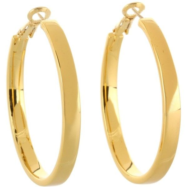 Kate Spade New York Bar None Hoop Earrings ($68) ❤ liked on Polyvore
