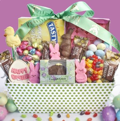 70 best easter images on pinterest gift basket gift baskets and happy easter goody basket negle Images
