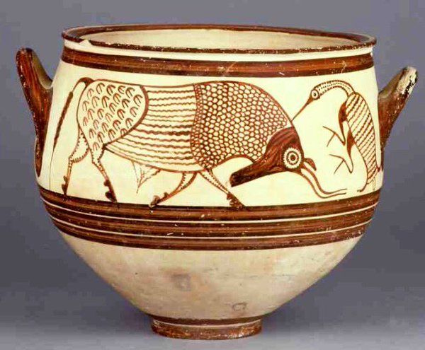 ancient Greek egret picking ticks off a bull c1300-1200BC http://www.britishmuseum.org/research/collection_online/collection_object_details.aspx?objectId=461849&partId=1&searchText=Egret&images=true&page=1 … via Seshat (@SeshatDatabank) | Twitter