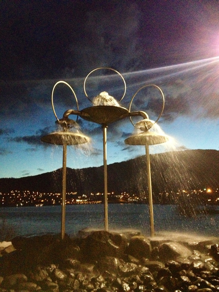 this is a sweet fountain in osoyoos bc