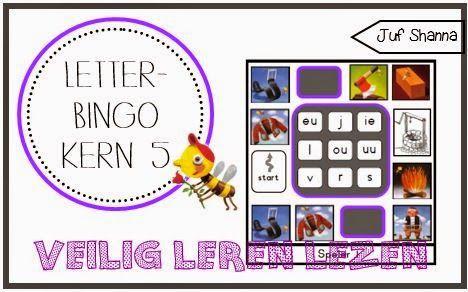 Juf Shanna: Letterbingo VLL - kern 5