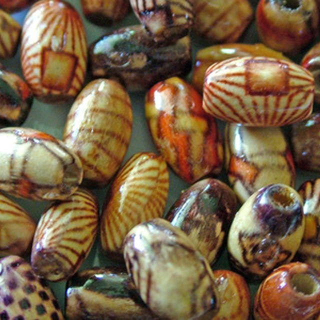 paper beads that look like fired ceramic beads.
