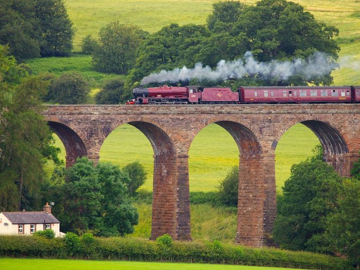 Galatea Steam Train, Eden Valley, Cumbria, England