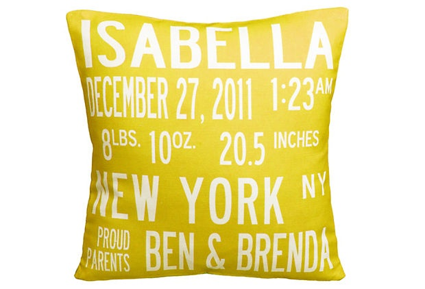 adorable :): Births Announcements, Gifts Ideas, Baby Gifts, Baby Announcements, Birth Announcements, Personalized Pillows, Announcements Pillows, Baby Shower