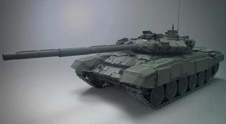 ArtStation - T-90, Ivan Mityaev
