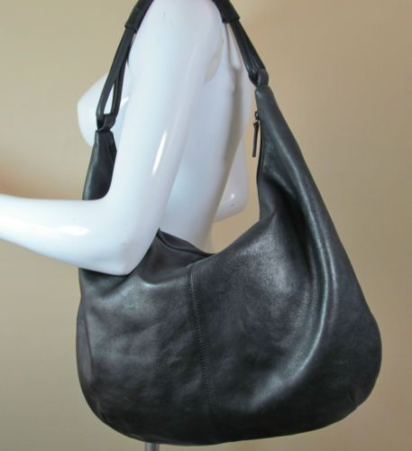 #Marks&Spencer large black soft leather #shoulderbag handbag #purse R14429 #style #fashion #love #woman #chic #follow #ebayauction