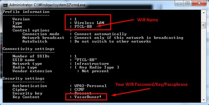 how to find the password of an account using cmd