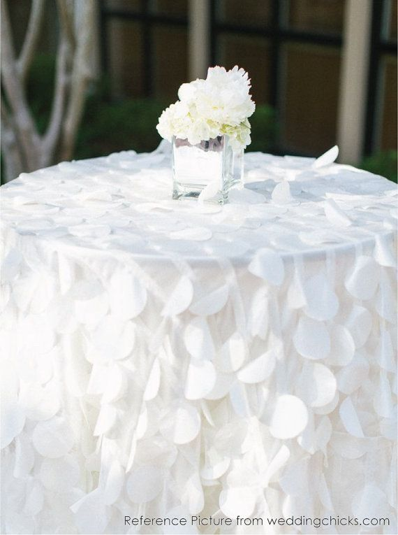 Hey, I found this really awesome Etsy listing at https://www.etsy.com/listing/213884656/shimmery-petal-tablecloths-ready-to-ship wedding cake table $150.00
