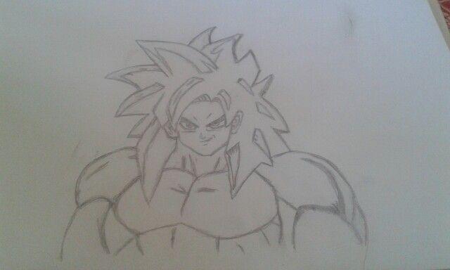 My Goku super sayian four.