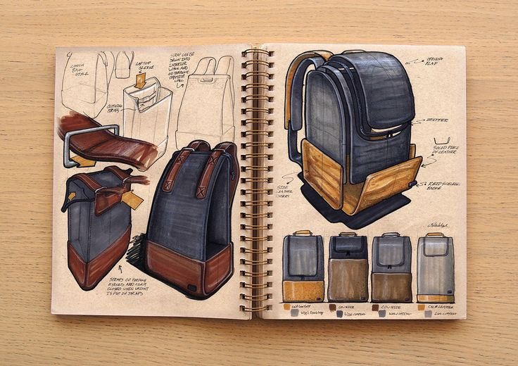 Some fantastic bag sketches for inspiration - I have a dickens of a time drawing soft goods, so I'm always impressed to see people do it well.
