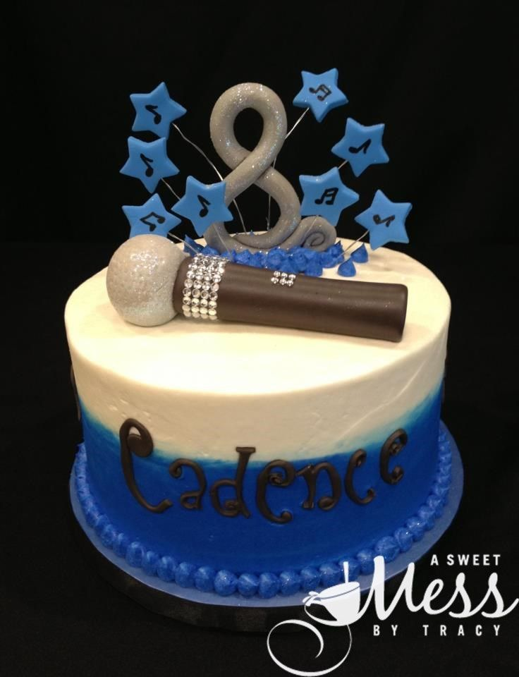singer birthday cake