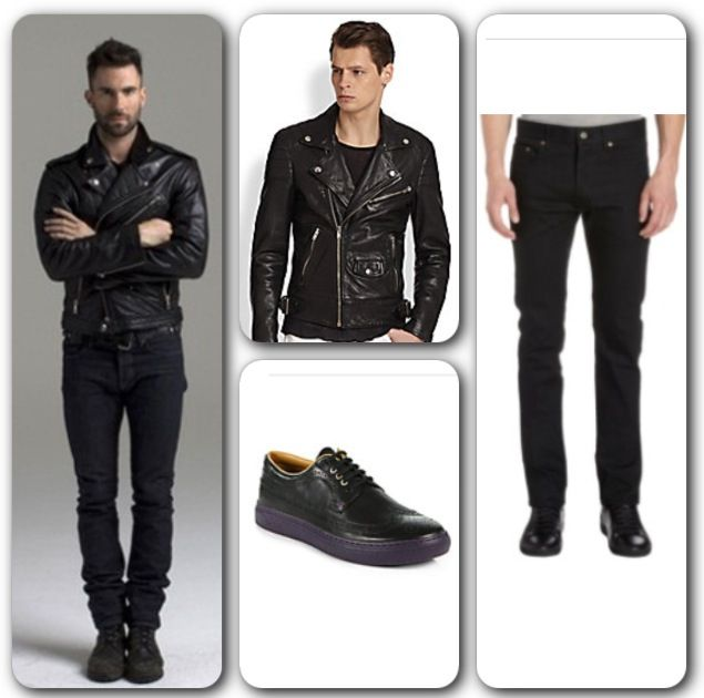 Do you have the guts to look like a rock star? Recreate Adam Levine ;) Jacket (#BlkDnm Leather Biker Jacket) at $995. Shoes (#PaulSmith Merced Leather Lace-Up Sneakers) at $345. Both jacket and sneakers are available at www.saksfifthavenue.com. Jeans (#SaintLaurent Raw Slim Fit Jean) available at $490 at www.barneys.com. #AdamLevine #peoplemagazine #rockstar #musician #artist #mensfashion #picoftheday #streetstyle #mensstyle #casual #instadaily #instagood #instablog #follow #like #fierce