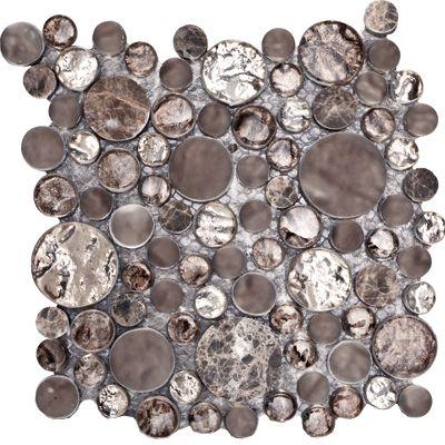 Porcelanosa Treasures Bronze Empera Moon Mosiac Tiles for Master Shower