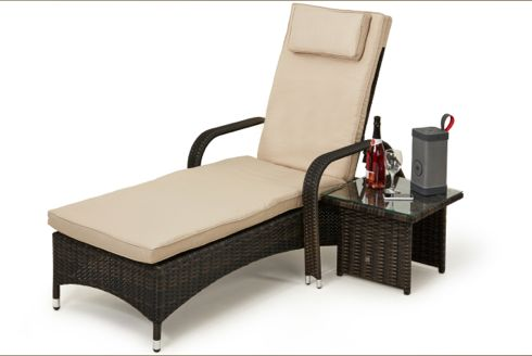 Florida Sun Lounger with Side Table - Koncept Furnishing