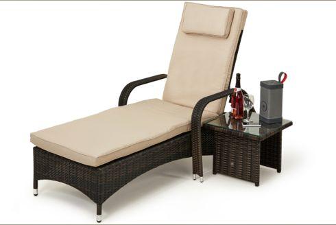 Florida Sun Lounger with Side Table - Koncept Furnishing