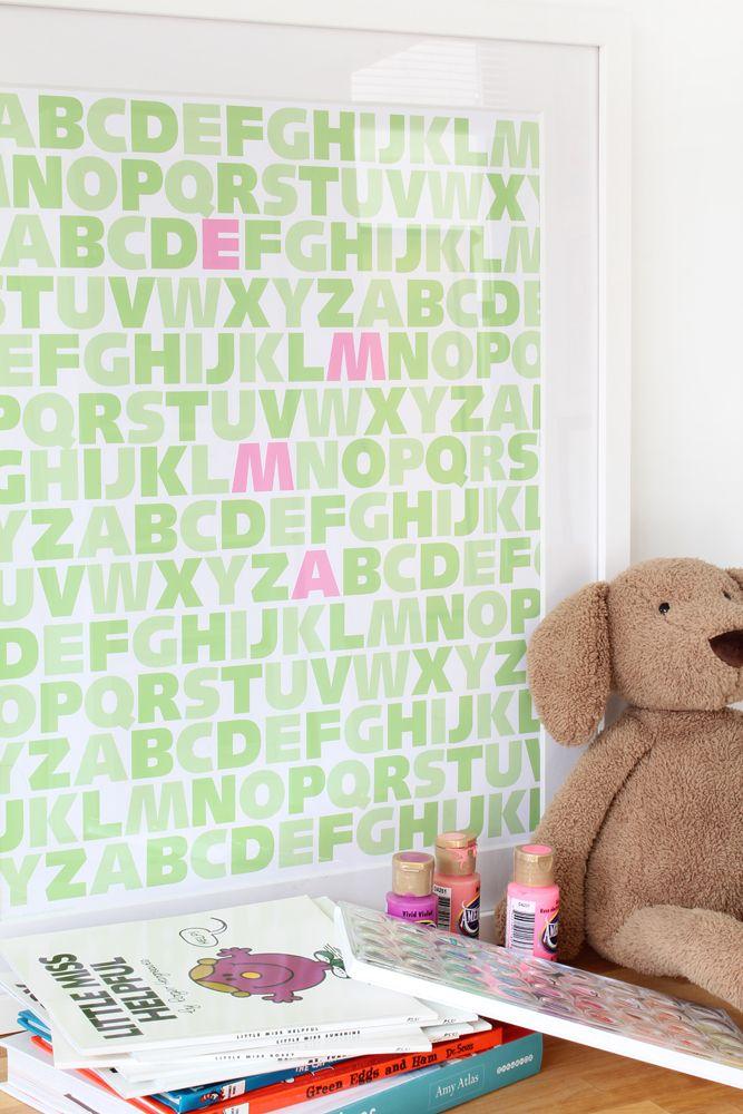Child's name art - MadeByGirl: ABC Girls (Stella's Greens)