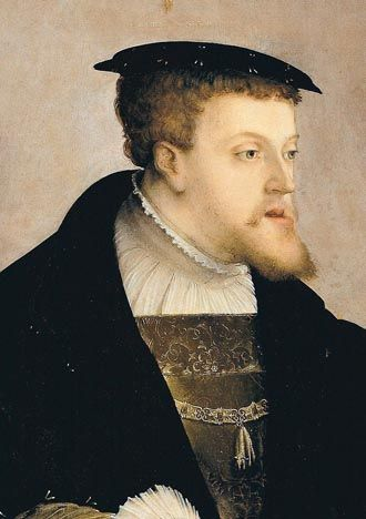 "Charles V Holy Roman Emperor,1533. Born in 1500, son to Juana de Castilla and Felipe ""el Hermoso"""