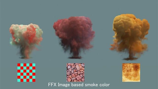 I came up with this method and thought of sharing as this would be useful for people who don't use TP. However, this is not the ideal way of doing it. The ideal way would be transferring color information to Fumefx using TP's Data Channel information; anyone one who wants to try it out, there's a good tutorial by  Kei Yoneoka on Vimeo ( https://vimeo.com/65370346 )