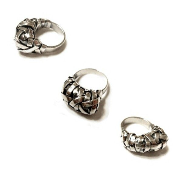 woven series cocoon rings crafted to order in silver by artist designer maker gurgel-segrillo