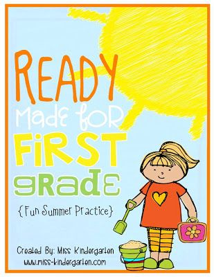 Miss Kindergarten: Ready Made for First Grade! Fun summer practice before entering first grade