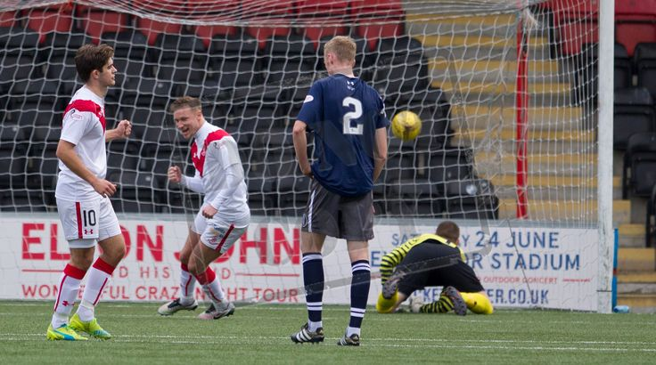 Airdrieonians' Iain Russell converts another penalty during the Ladbrokes League One game between Airdrieonians and Queen's Park.