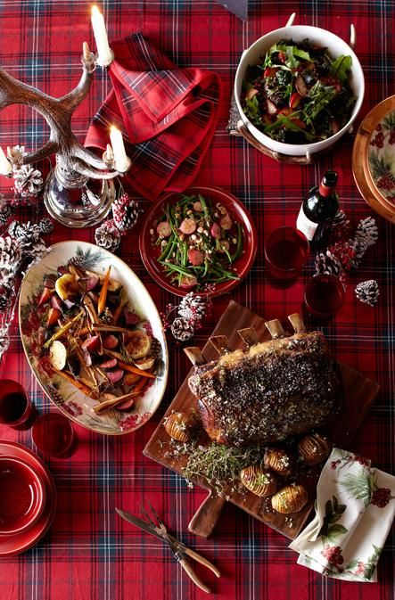 Christmas: Southern Glamour / karen cox. ... Christmas Dinner Menu on our Tartan Table