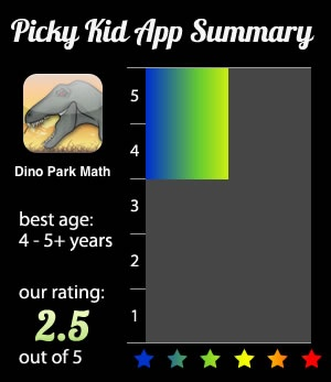 Dino Park Math iPad App See if dinosaurs can inspire