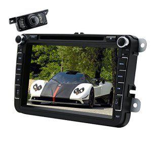 Eincar 2 din lecteur DVD de voiture pour Golf Jetta Passat Polo Double Din Dash 8 pouces Headunit avec WinCE 6.0 GPS Sat Nav Navigator…
