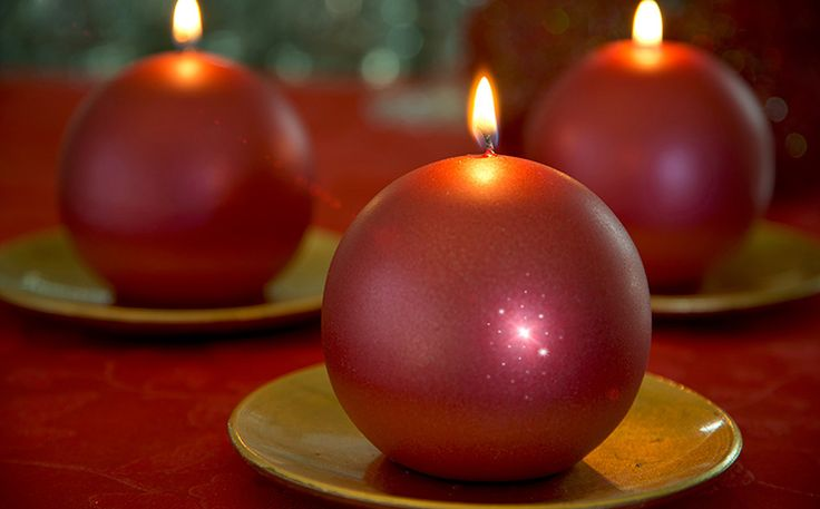 Red christmas candles - Duni