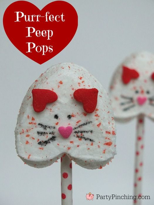 Kitten Peep Pops Purrfect for Valentine's Day, great for class parties