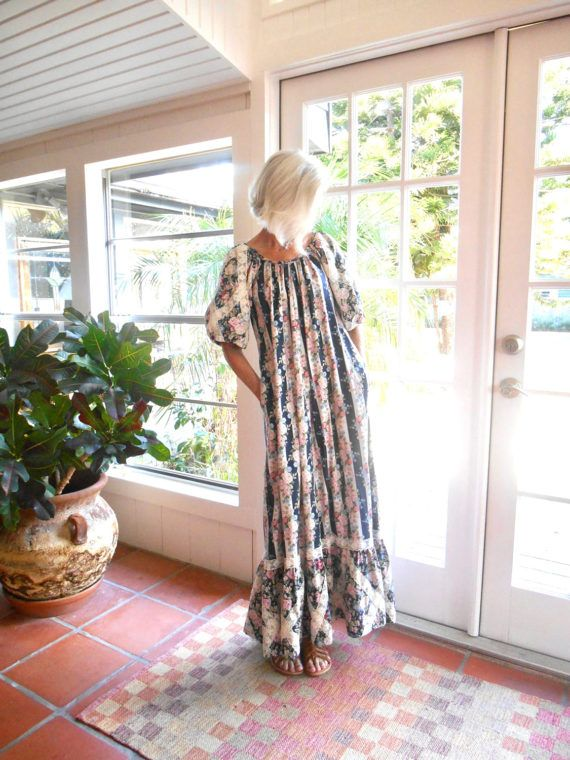 Vintage Liberty House maxi dress Hawaiian muumuu by BopandAwe