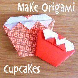 Learn how to fold a very easy Origami Cupcake from paper that you can use in scrapbooks, on card fronts and for papercrafting projects. This is an easy tutorial with photo steps that children can follow with some help too.