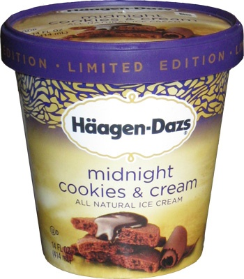 Haagen-Dazs Limited Edition   Midnight Cookies & Cream