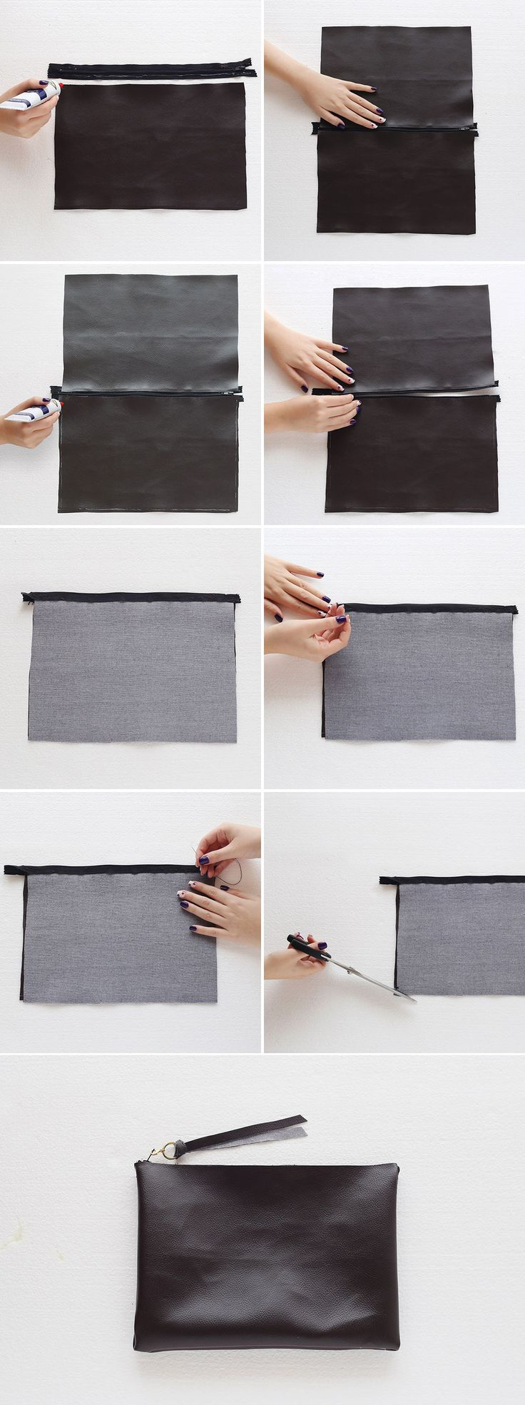 This DIY clutch is totally no-sew.