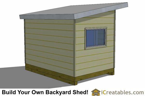 8x12 Modern Studio Shed Plan Rear View Modern Shed Shed Plans Shed