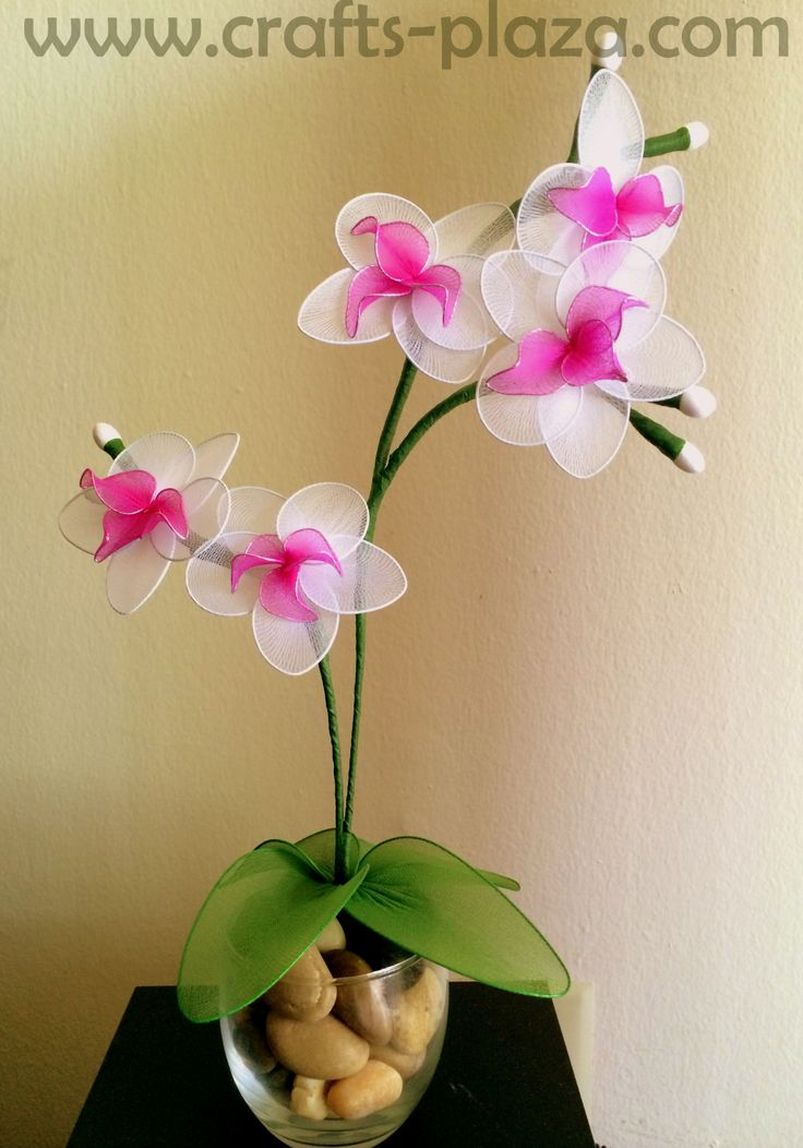 Handmade nylon flowers