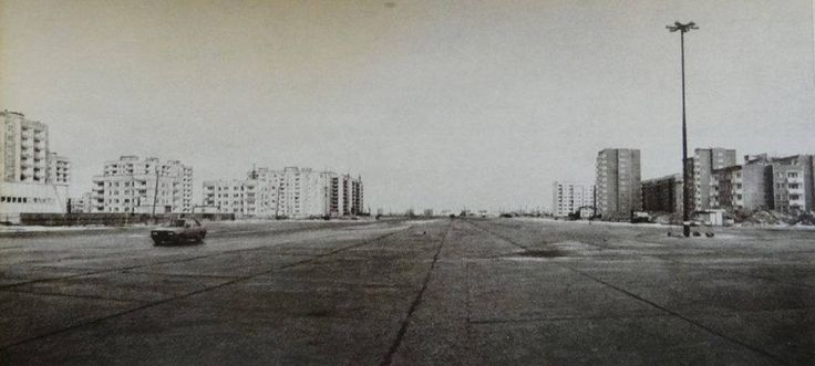 Powstańców Śląskich na wysokości Radiowej początek lat 80. (Cyfrowe Archiwum Bemowa)
