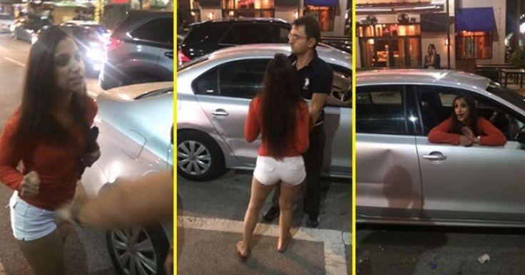 Un chófer del servició Uber fue agredido por una mujer en estado de ebriedad y que casi destruye su unidad, cuando de la nada ella subió al asiento trasero mientras el chófer estaba mirando su teléfono para atender el servició de u
