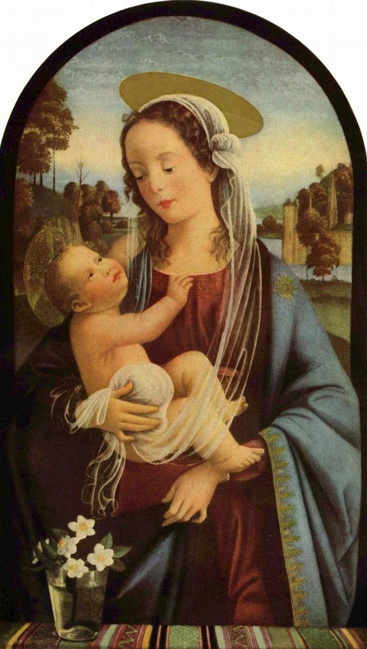 ❤ - DOMENICO GHIRLANDAIO (1449 - 1494) - Madonna - 1473. Fresco | Ognissanti, Florence.