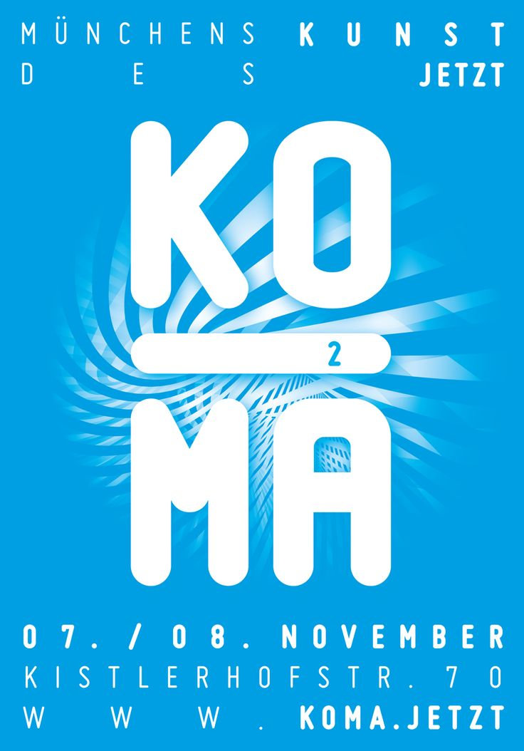 Poster by deshalb. | Désha Nujsongsinn #deshalb #deshalbpunkt #grafik #typo #typographie #poster #plakat #affiche #KOMA #KOMAJETZT