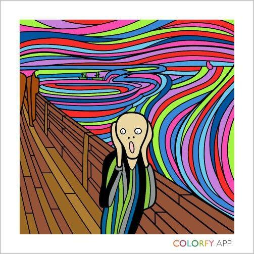 """Painting """"scream"""""""