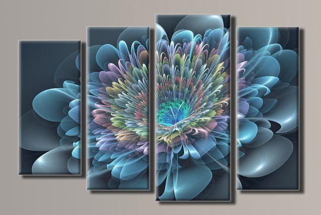 Картина модульная (59,5х90 см.) - Абстракция цветок, Арт. HAF-048
