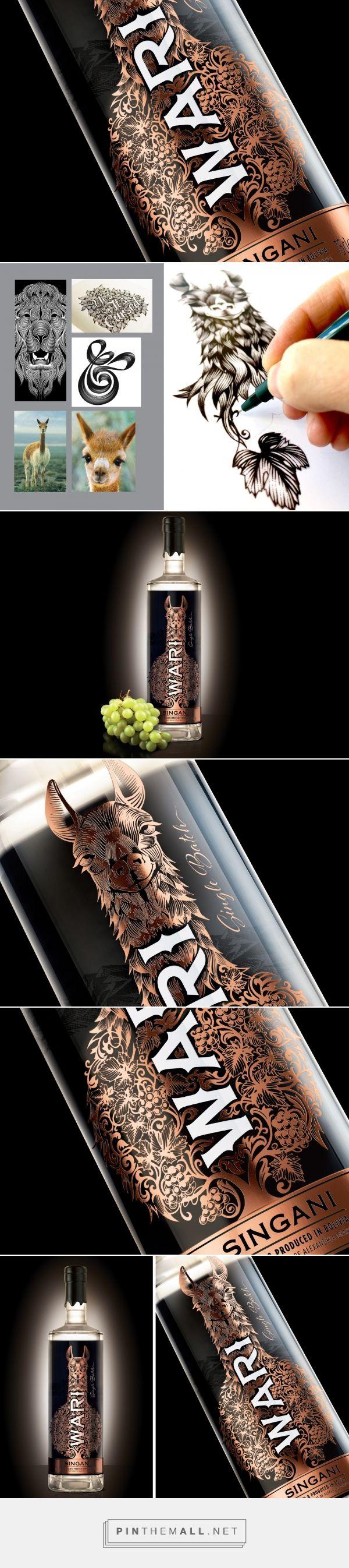Wari Singani (Tierra Alta) packaging concept by Love Mondays Branding - http://www.packagingoftheworld.com/2017/04/wari-singani-tierra-alta-concept.html