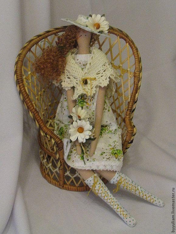 """Тильда """"Ромашка-Бетти"""" - жёлтый,белый,лето,ромашки,букет из ромашек,шляпка с цветами"""