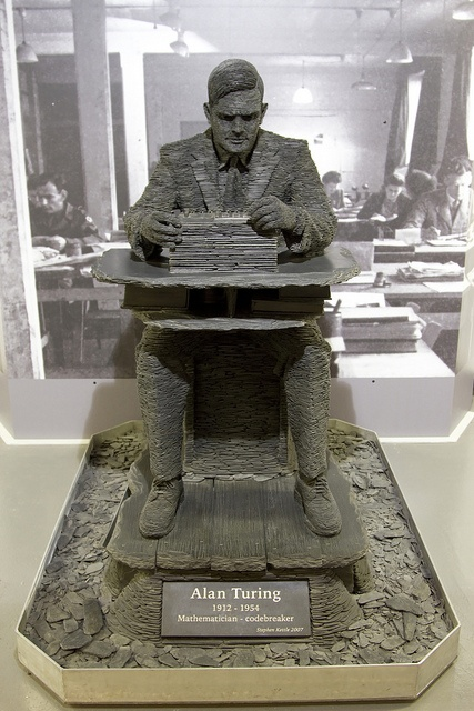 Alan Turing Statue by Stephen Kettle, Bletchley Park by Downtime_1882, via Flickr