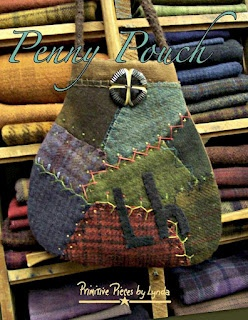 Penny Pouch, PPL086 - fabric and wool