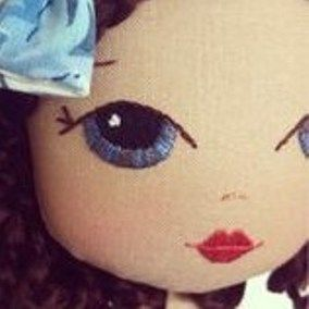 Doll face embroidery