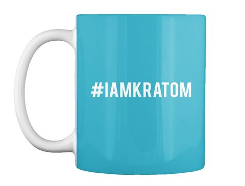 #IamKratom Turquoise coffee tea mug Support the I am Kratom movement & keep Kratom legal!
