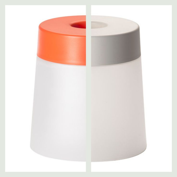 Skammel med lys som fås i 2 forskellige farver. Find forhandler på bloggen frubruun.dk